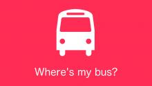 Where's my bus? Logo
