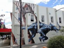 elephant mural in Toowoomba